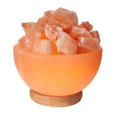 Himalayan Glow Himalayan Pink Salt Bowl Night Lamp 6 Inches Height To 9 Lbs Himalayan Salt Benefits, Himalayan Rock Salt Lamp, Himalayan Salt Crystals, Pink Salt Lamp, Salt Rock Lamp, Natural Salt, Fire Bowls, Night Lamps, Living Room