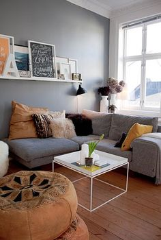 Living Room: Sofa with Chaise Lounge