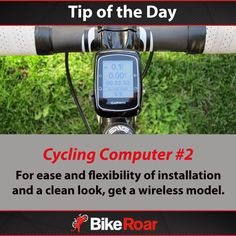 Tip of the Day: Cycling Computer #2 For ease and flexibility of installation and a clean look, get a wireless model.  #BikeRoarTOD #cycling #cyclocomputer #wireless