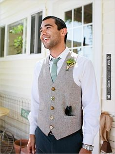 groomsman outfit ideas - love the buttons on the vest | CHECK OUT MORE IDEAS AT WEDDINGPINS.NET | #bridesmaids