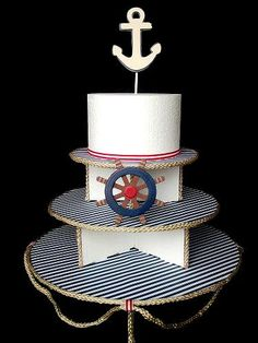 Nautical / Sailor Cupcake Display Stand (3 Tier). $42.00, via Etsy.