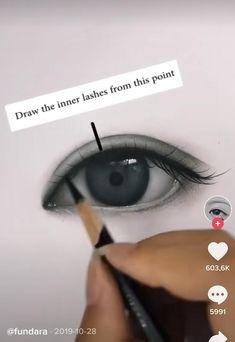 Art Drawings Beautiful, Art Drawings Sketches Simple, Pencil Art Drawings, Realistic Drawings, Eye Drawing Tutorials, Drawing Techniques, 3d Art Drawing, Aesthetic Art, Artsy