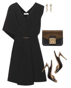 """Louboutin"" by tina-pieterse ❤ liked on Polyvore featuring Balenciaga, Ben-Amun, Christian Louboutin and Furla"
