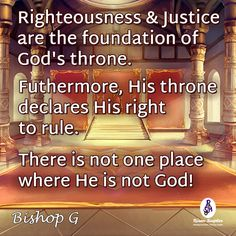 Regardless whether men receive or reject Him, there is not one place where He is not God!  #BishopGQuotes More at #RisenScepter owl.li/4mZ4NS