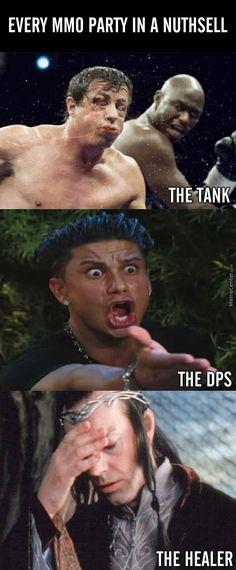 MMORPG Fun Post of the Day - Every MMO Party in a nutshell The Tank, The DPS, The Healer. - http://mmorpgwall.com/mmorpg-fun-post-day-13/ #gamepicture #meme #fun, #mmofun, #mmomeme, #mmorpgfun, #mmorpgmeme, mmo, MMORPG