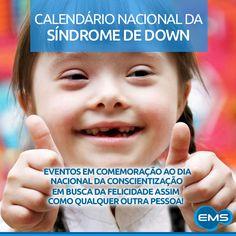 m comemoração ao dia Nacional da conscientização da Síndrome de Down, 21 de Março, elaboramos um calendário especial, com os principais eventos realizados no Brasil sobre o assunto. Confira:http://bit.ly/1l3TCEi