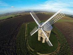 CHESTERTON WINDMILL   Brit Paul Bunyard made this image in Warwick, England, by sending a GoPro 3 200 feet into the air in a four-prop DJI Phantom drone.  Photo: Paul Bunyard
