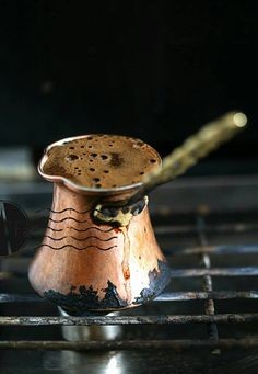 Copper Turkish coffee pot