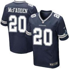 Darren McFadden # 20 Dallas Cowboys Navy Blue Stitched NFL Elite Jersey