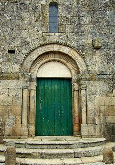 Door of Igreja de Barcos Church in Portugal - Late-Romanesque style - - - Pórtico by Eudora Porto, via Flickr