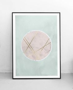 Abstract printable poster, Minimalist poster, Moon poster, Gold foil poster, Scandinavian print, Mid century art, Danish, A3, A4, 8x10