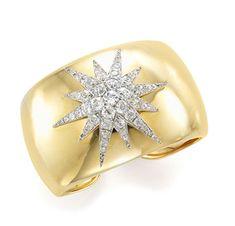 A Gold and Diamond Starburst Cuff Bracelet, Verdura - FD Gallery