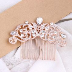 Rose gold bridal hair comb wedding hairstyles accessories
