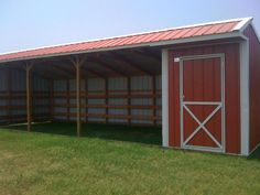 horse barn with feed room- perfect for run-in shed. if you backed it up to a fence and had door access from the other side into the pasture for easy feeding