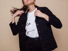 Carleen Triangle Pocket Jacket - Black