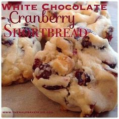 WHITE CHOCOLATE CRANBERRY SHORTBREAD – Yumi recipes