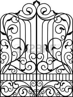portes: Fer Forgé Porte, Porte, Clôture                                                                                                                                                                                 Plus