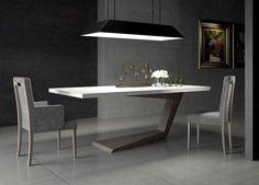 Göreme Yemek Odası.. Hız simgesi , masanın tek ayak üzerinde hafif eğik açı ile yükseltilerek ifade edilmiştir. #macitler #modoko #masko #adana #design #designer #göreme #yemek odası #masa #sandalye