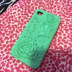 IPHONE 5 case  Barely used phone case!  It's a minty green and it's super stretchy Cotton On Accessories Phone Cases