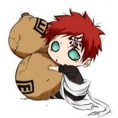 Naruto-Chibi Sabaku no Gaara Anime Chibi, Anime Kawaii, Naruto Kawaii, Naruto Cute, Manga Anime, Naruto Gaara, Anime Naruto, Itachi, Hinata