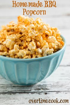 Homemade Barbecue Popcorn takes just minutes to make and tastes so much better than the commercially bought stuff! Homemade Popcorn Seasoning, Flavored Popcorn, Popcorn Recipes, Snack Recipes, Cooking Recipes, Gourmet Popcorn, Candy Recipes, Sweet Recipes, Dinner Recipes