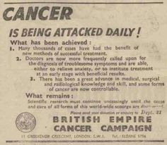 British Empire Cancer Campaign. 10 October, 1947.