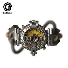 99b5a15e1c95 2019 Steampunk Watch Men Silver Metal Women Retro Fashion Prop Chronograph  Watches Original Wristwatch of Brassy
