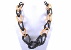 Black and Gold Chain Necklace by Celebrate Jewelry
