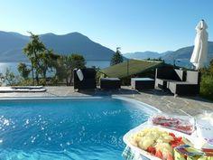 Pool switzerland brissago Lago Maggiore Langensee Tessin schweiz