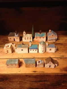 Clay Houses, Ceramic Houses, Paper Houses, Miniature Houses, Wooden Houses, Clay Crafts, Home Crafts, Diy And Crafts, Small Wood Projects