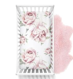 Baby Bedding, Baby Crib Sheets, Nursery Bedding, Girl Nursery, Girl Crib Bedding Sets, Paper Flower Garlands, Paper Flower Backdrop, Blush Peonies, Peony