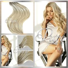 Most Stunning & Extensive Range Of Hair Extensions Dark Ash Blonde, Blonde Roots, Silver Blonde, White Blonde, Invisible Hair Extensions, Tape In Hair Extensions, Blonde Root Stretch, Balayage Ombre, Best Ombre Hair