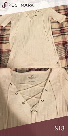 American Eagle Lace Up Top EUC. Soft as can be! American Eagle Outfitters Tops