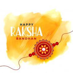 Download Happy Raksha Bandhan Watercolor Background for free