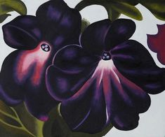 Shop for Georgia O'Keeffe 'Black and Purple Petunias, Hand Painted Framed Canvas Art. Get free delivery On EVERYTHING* Overstock - Your Online Art Gallery Store! Georgia O'keefe Art, Georgia O Keeffe Paintings, Purple Petunias, Georgia Okeefe, Abstract Painters, Abstract Art, New York Art, Paintings I Love, Flower Paintings