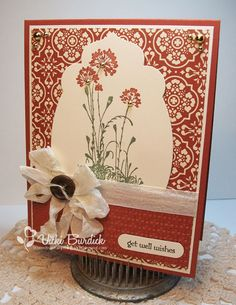 It's a Stamp Thing: Get Well Wishes--The flowers are fom the Stampin Up Serene Silhouettes stamp set