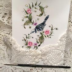244 отметок «Нравится», 6 комментариев — Heather Held (@heathervictoria1) в Instagram: «The Azure Bird...study piece for the Enchanted Meadow Workshop. Preparing notes for Birmingham…»