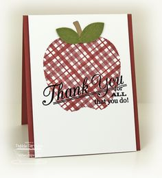 Grand Greetings; Plaid Builder Background; Red Delicious Die-namics - Debbie Carriere