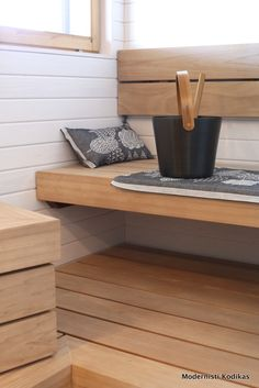 Sauna , home spa Home Spa, Diy Home, Home Decor, Basement Remodeling, Bathroom Renovations, Modern Saunas, Sauna Shower, Sauna Design, Finnish Sauna