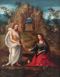 Noli Me Tangere identified as Hispano-Flemish, about 1550.