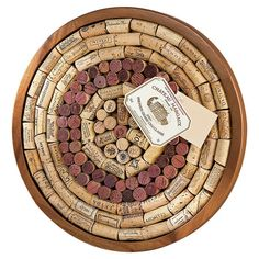 Found it at Wayfair - Round Wine Cork Board Kit Bulletin Board http://www.wayfair.com/daily-sales/p/Wine-Cellar-Staples%3A-Storage-%26-Glassware-Round-Wine-Cork-Board-Kit-Bulletin-Board~WINE1086~E19602.html?refid=SBP.rBAZEVQfehsKIyuR2UYjAnnZQL3KJkmYu3NgLaR2tjw