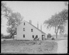 Home of Rebecca Nurse in Danvers, Ma (formerly Salem Village) circa 1900-1906. #salemwitchtrials