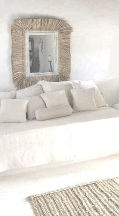 lovely white and natural lounge | beach house styling