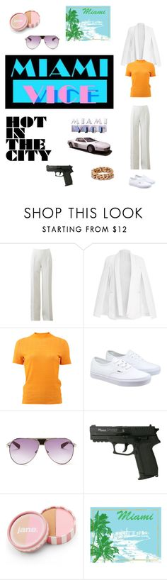 """""""Miami Vice, I remember"""" by neve-silente ❤ liked on Polyvore featuring Michael Kors, Carven, Vans, Sperry Top-Sider, jane, Green Leaf Art, Ferrari, STELLA McCARTNEY, women's clothing and women's fashion"""