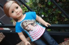 Blue Concert Tee for American Girl Dolls by LostinaJungle on Etsy, $18.00