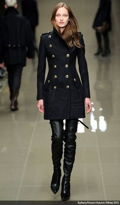 Burberry military coat