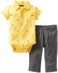 Amazon.com: Carters Baby Boy Anchor Print Bodysuit & Pant Set: Clothing