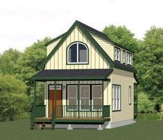 Cabin Plans With Loft, House Plan With Loft, Loft Plan, Cabin House Plans, Cabin Floor Plans, Small House Plans, Garage Plans With Loft, Build House, House Building