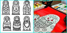Patterned Matryoshka Dolls (blog is for teaching children art)