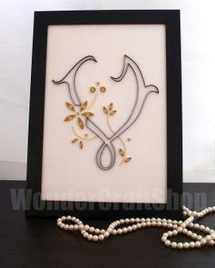 quilled valentine gifts
